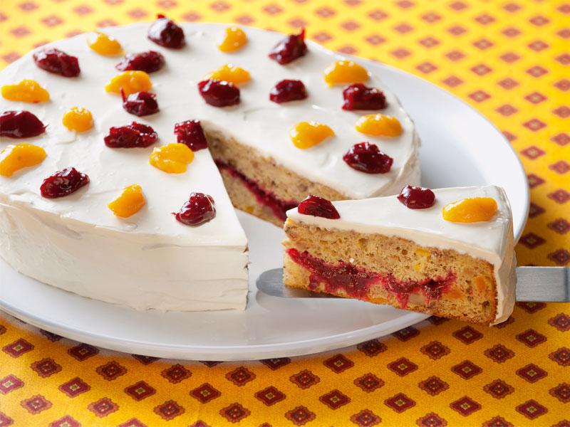 Mango Cranberry Torte
